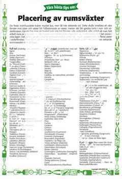 28. Placering av rumsväxter