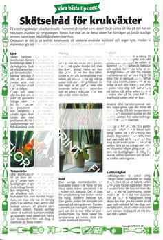 29. Skötselråd för krukväxter